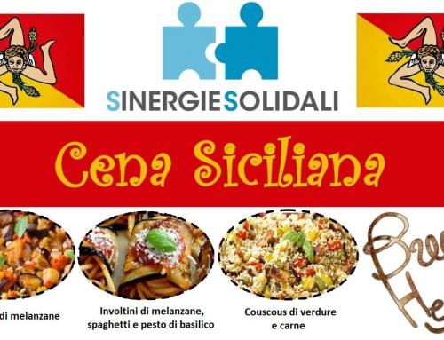 Cena Siciliana, Sinergie Solidali giovedì 12 aprile a Roma