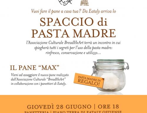 Incontro riepilogativo e spaccio presso Eataly Roma Ostiense, giovedì 28 giugno.