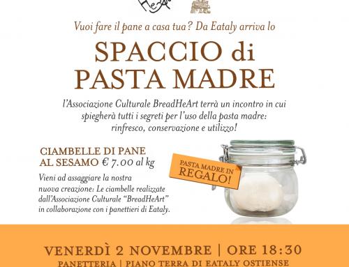 Punto spaccio, lezione teorica e assaggi di pane al sesamo venerdì 2 novembre Eataly Roma