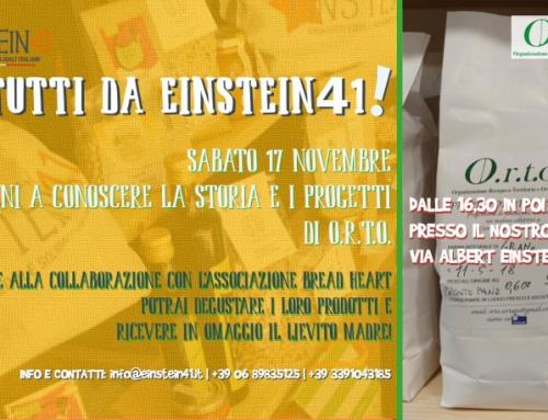 Presentazione farine O.R.T.O. da Einstein41 e mini lezione pasta madre, sabato 17 novembre